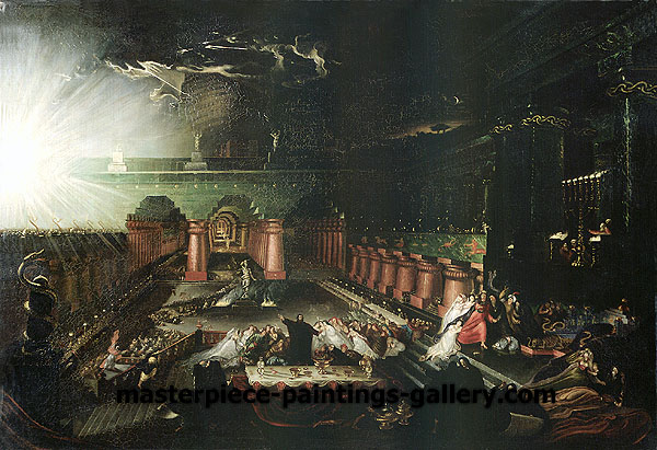 John Martin, Belshazzar's Feast, 1820, oil on canvas, 19.7 x 28.7 in. / 50 x 73 cm, US$520