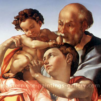 Michelangelo Buonarroti, The Holy Family | Tondo Doni (DETAIL 2), 1504-1506, oil on canvas, 28 x 28 in. / 71.1 x 71.1, US$280