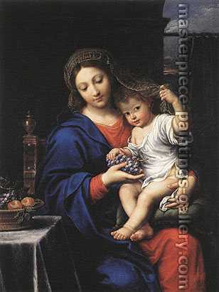 Pierre Mignard, The Virgin of the Grapes, 1640, oil on canvas, 42 x 32.6 in. / 106.7 x 82.9 cm, US$450