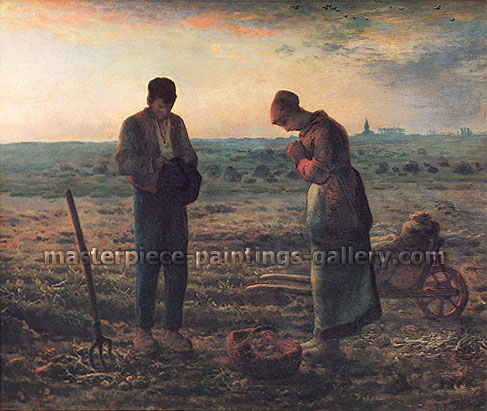 Jean-Francois Millet, The Angelus, 1857, oil on canvas, 21.8 x 26 in. / 55.5 x 66 cm, US$350