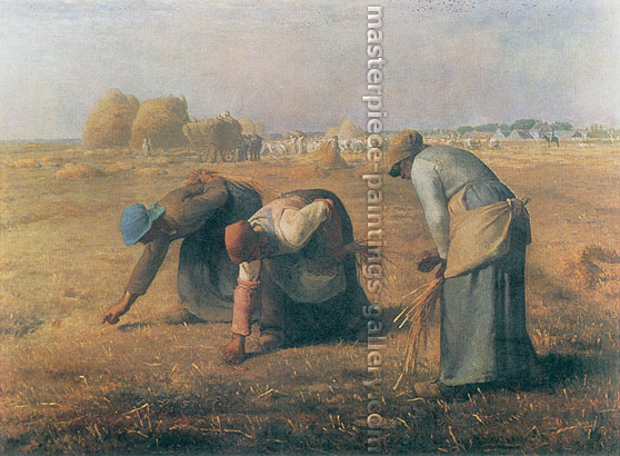 Jean-Francois Millet, The Gleaners | Les Glaneuses, 1857,  oil on canvas, 23.6 x 32 in. / 59.9 x 81.3 cm, US$400
