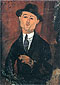 Amedeo Modigliani, Portrait of Paul Guillaume | Novo Pilota, 1915, oil on canvas, 41.3 x 29.5 in. / 105 x 75 cm, US$390