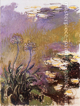 Claude Monet, Agapanthus, 1914, oil on canvas, 55.1 x 41.3 in. / 140 x 105 cm, US$770