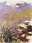 Claude Monet, Agapanthus, 1914-17, oil on canvas, 55.1 x 41.3 in. / 140 x 105 cm, US$470