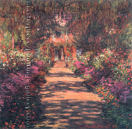 Claude Monet, Avenue in the Artist's Garden, Giverny | Une Allee du jardin de Monet, Giverny, 1901, (W 1650), oil on canvas, 35 x 36.2 in. / 89 x 92  cm, US$530