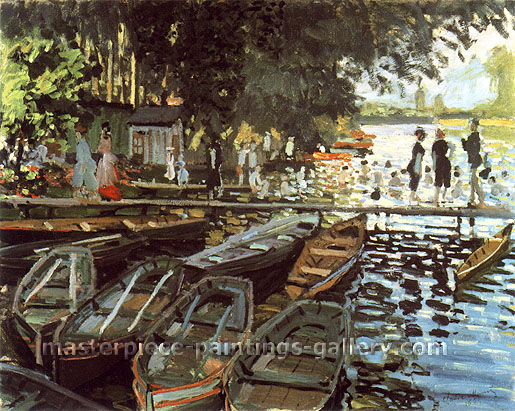 Claude Monet, Bathers at La Grenouillere | Les Bains de la Grenouillere, 1869, (W 135) oil on canvas, 28.7 x 36.2 in. / 73 x 92 cm, US$510