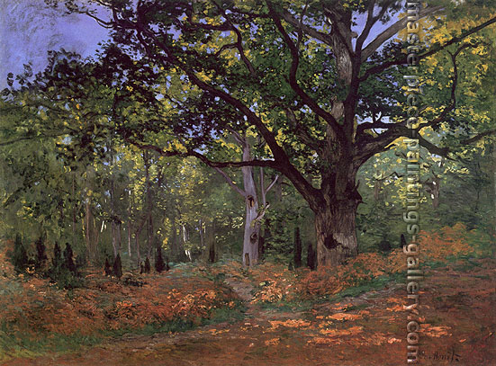 Claude Monet, The Bodmer Oak, Fontainebleau Forest (W 60), 1865, oil on canvas, 37.9 x 50.9 in. / 96.2 x 129.2 cm, US$720