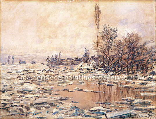 Claude Monet, La Debacle, Tempis Gris | El Deshielo, Tempo Gris | The Ice Floes, 1880, (W 560) oil on canvas, 26.7 x 35.4 in. / 68 x 90 cm, US$500