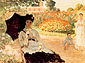 Claude Monet, Camille in the Garden with Jean and his Nurse | Camille au Jardin, avec Jean et sa Bonne, 1873, oil on canvas, 23.2 x 31.3 in. / 59 x 79.5 cm, US$289