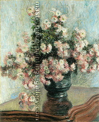 Claude Monet, Chrysanthemums, 1882, oil on canvas, 39.5 x 32.3 in. / 100.3 x 81.9 cm, US$555