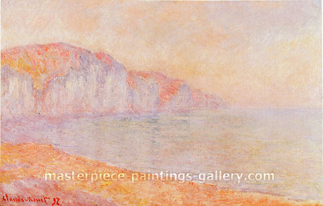 Claude Monet, The Cliffs of Pourville, Morning, 1897, oil on canvas, 25.2 x 39 in. / 64 x 99 cm, US$550