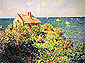 Coastguard's Cottage at Pourville with Ships, 1882, oil on canvas, 23.6 x 31.5 in. / 60 x 80 cm, US$250