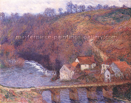Claude Monet, Landscape of the Creuse River, 1889, oil on canvas, 28.7 x 36.2 in. / 73 x 92 cm, US$510