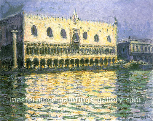 Claude Monet, The Doge's Palace, Venice, 1908, oil on canvas, 25.6 x 39.4 in. / 65 x 100 cm, US$575