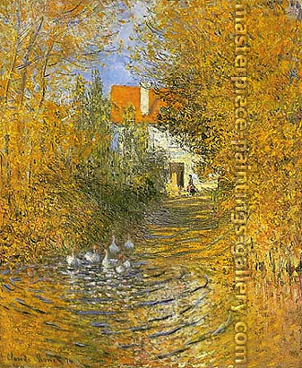 Claude Monet, The Duck Pond, 1874, oil on canvas, 31.5 x 25.7 in. / 80 x 65.3 cm, US$440