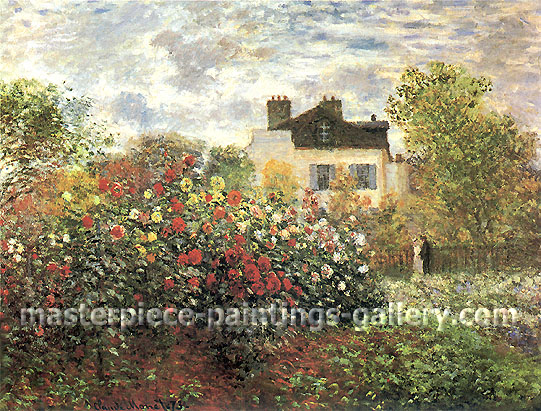Claude Monet, Garden at Argenteuil | Le jadin de Monet a Argenteuil, 1873 (W 286), oil on canvas, 23.6 x 31.9 in. / 60.5 x 81.3 cm, US$450