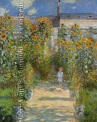 Claude Monet, The Artist's Garden at Vetheuil | Monet's Garden at Vetheuil | Le Jardin de Monet a Vetheuil (W 685), 1881, oil on canvas, 59 x 47.2 in. / 150 x 120 cm, US$920