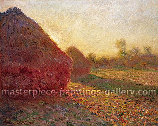 Claude Monet, Haystacks in the Last Rays of Sun, 1890, oil on canvas, 28.7 x 36.2 in. / 73 x 92 cm, US$575