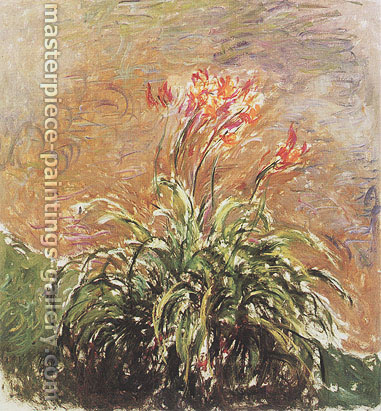 Claude Monet, Hemerocallis, 1914, oil on canvas, 59.1 x 55.1 in. / 150 x 140 cm, US$830