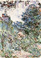 Claude Monet, The House seen from Rose Garden 2, 1922-24, oil on canvas, 39.4 x 28.7 in. / 100 x 73 cm, US$330
