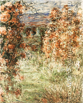 Claude Monet, The House seen from the Rose-Garden 3, 1922-24, oil on canvas, 31.9 x 36.2 in. / 81 x 92 cm, US$510