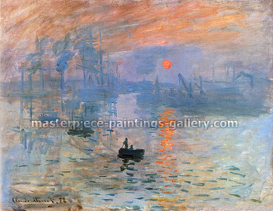 Impression Sunrise, 1873, oil on canvas, 24.4 x 32 in / 62 x 81.3 cm, US$330