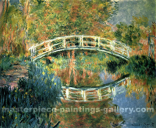 Claude Monet, The Japanese Bridge at Giverny, 1892, oil on canvas, 33.9 x 39.8 in / 86 x 101 cm, US$600