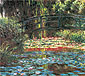 Claude Monet, Pool of Water Lilies | Le Bassin aus Nympheas | Japanese Bridge at Giverny | The Water Lily Pond | Japanese Bridge | Le Pont sur le Bassin aus Nympheas, Giverny | El Puente Sobre el Estanque de las Ninfeas, Giverny | Water Lily Garden, 1900 (W 1628), oil on canvas, 35 x 39.4 in. / 89 x 100 cm, US$400