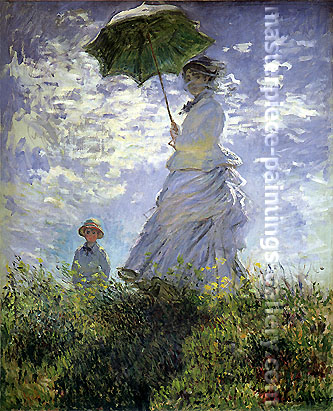 Claude Monet, Madame Monet and Son, 1875, oil on canvas, 39.5 x 32 in / 100.3 x 81.3 cm, US$600