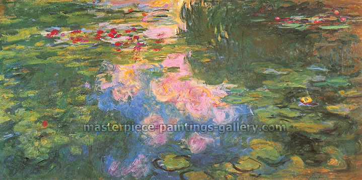 Claude Monet, Nympheas | Water Lilies, 1919, oil on canvas, 39.4 x 78.7 in. / 100 x 200 cm, US$900