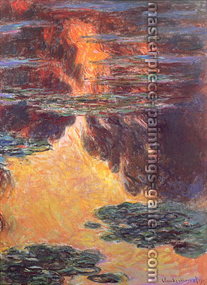 Claude Monet, Nympheas, Sunset Effect | Water Lilies, 1907 (W 1714), oil on canvas, 39.4 x 28.7 in. / 100 x 73 cm, US$340
