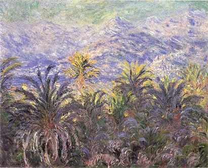 Claude Monet, Palm Trees at Bordighera, 1884 (W 877), oil on canvas, 25.5 x 32 in. / 64.8 x 81.3 cm, US$450