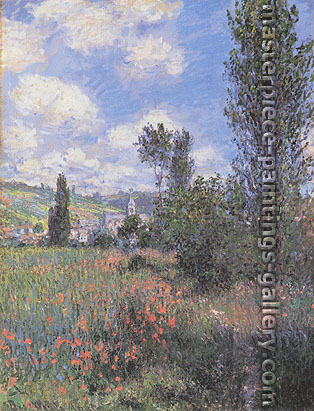 Claude Monet, Path in the Ile Saint-Martin, Vetheuil |  Sentier dans les coquelicots, Ile Saint-Martin (W 592), 1880, oil on canvas, 32 x 24 in / 81.3 x 61 cm, US$440