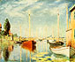 Claude Monet, Pleasure Boats | Bateaux de Plaisance a Argenteuil, 1875, oil on canvas, 21.3 x 25.6 in. / 54 x 65 cm, US$270
