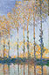 Claude Monet, Poplars, 1891, oil on canvas, 40.1 x 28.1 in. / 101.9 x 71.5 cm, US$350