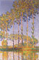 Claude Monet, Poplars along the River Epte, Sunset Effect, 1891, oil on canvas, 39.4 x 25.6 in. / 100 x 65 cm, US$360.