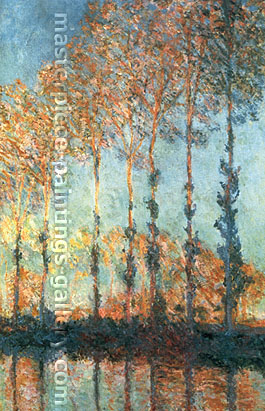 Claude Monet, Poplars on the River Epte, 1891, oil on canvas, 39.4 x 25.6 in. / 100 x 65 cm, US$550