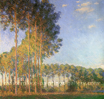 Claude Monet, Poplars on the Banks of the Epte, Seen from the Marshes, 1891, oil on canvas, 34.6 x 36.6 in. / 88 x 93 cm, US$520