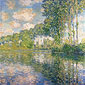 Claude Monet, Poplars on the Epte, 1891, oil on canvas, 32.2 x 32 in. / 81.9 x 81.3 cm, US$280