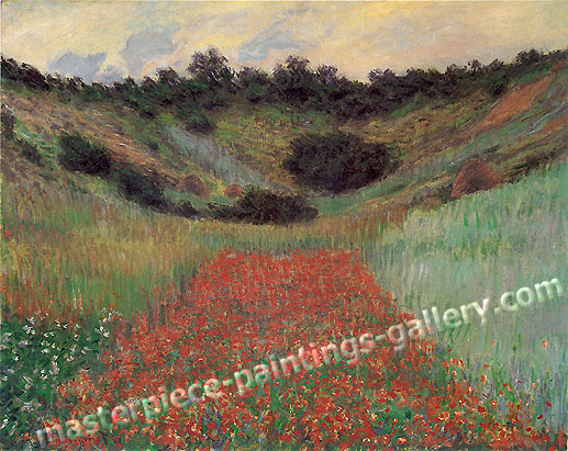 Claude Monet, Poppy Field in Hollow near Giverny, 1885 (W 1000), oil on canvas , 25.7 x 32 in / 65.3 x 81.3 cm, US$480