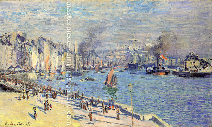 Claude Monet, The Quay at le Havre, 1874, oil on canvas, 23.7 x 40.2 in. / 60.3 x 102 cm, US$560