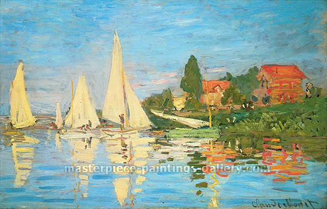 Claude Monet, Regatta at Argenteuil | Regates a Argenteuil, 1872, (W 233) oil on canvas, 18.9 x 29.5 in / 48 x 75 cm, US$400
