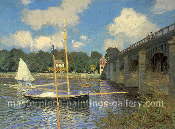 Claude Monet, Road Bridge, Argenteuil (W 312), 1874, oil on canvas, 24.1 x 32 in / 61.2 x 81.3 cm, US$475