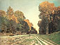 Claude Monet, Road from Chailly to Fontainebleau | La Route de Chailly a Fontainebleau, 1864, oil on canvas, 38.6 x 51.2 in. / 98 x 130 cm, US$440