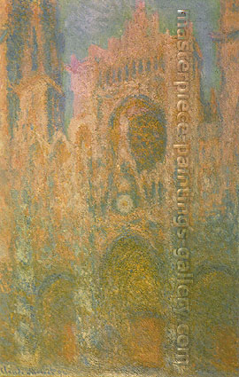 Claude Monet, Rouen Cathedral, Sunset, 1894, oil on canvas, 38.9 x 25 in. / 99 x 63.5 cm, US$575