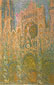 Claude Monet, Rouen Cathedral, Sunset, 1894, oil on canvas, 38.9 x 25 in. / 99 x 63.5 cm, US$350