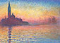 Claude Monet, San Giorgio Maggiore by Twilight | Saint-Georges Majeur au Crepuscule (W 1768) 1908, oil on canvas, 25.6 x 36.3 in. / 65 x 92 cm, US$360
