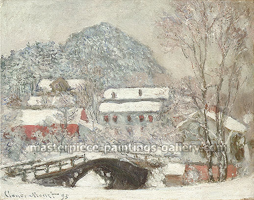 Claude Monet, Sandvika, Norway, 1895, oil canvas, 28.9 x 36.4 in. / 73.4 x 92.5 cm, US$275