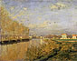 "Claude Monet, Seine at Argenteuil | La Seine a Argenteuil, 1873, (sometimes called ""Vanilla Sky"" after the Tom Cruise movie), oil on canvas, 19.9 x 24 in. / 50.5 x 61 cm, US$280"