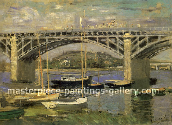 Seine Bridge Argenteuil, 1874, oil on canvas, 23.6 x 32 in / 60 x 81.3 cm, US$450